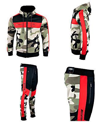 Survêtement Camouflage Training Homme Noir Bandes Rouge Logo AMG E24 4 | eBay