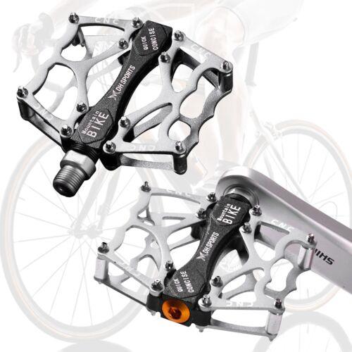 "Fahrrad Pedale 9//16/"" MTB BMX Rennrad Rutschfest Anti-Staub//Regen 1 Paar silber"