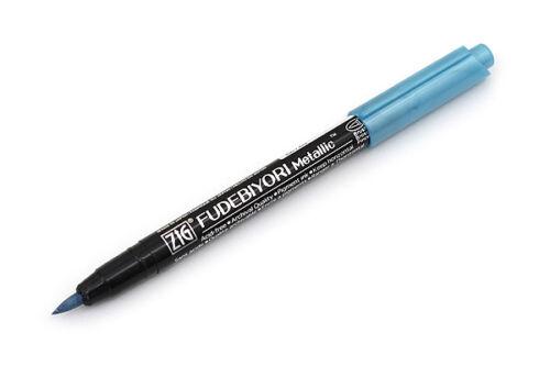 9 Colours Kuretake Zig Fudebiyori Metallic Brush Pen UK Rare Water based