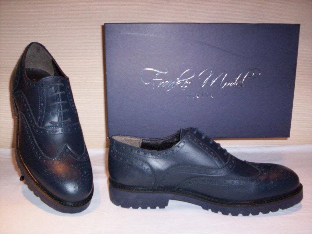 Frankie Model zapatos clásicos elegantes inglesas cuero casual para hombres, de cuero inglesas 093950