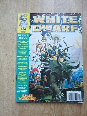 100% Vero White Dwarf Magazine 206 Febbraio Completa Di Scheda Nano Runa Fogli Di Riferimento- Sconti Prezzo