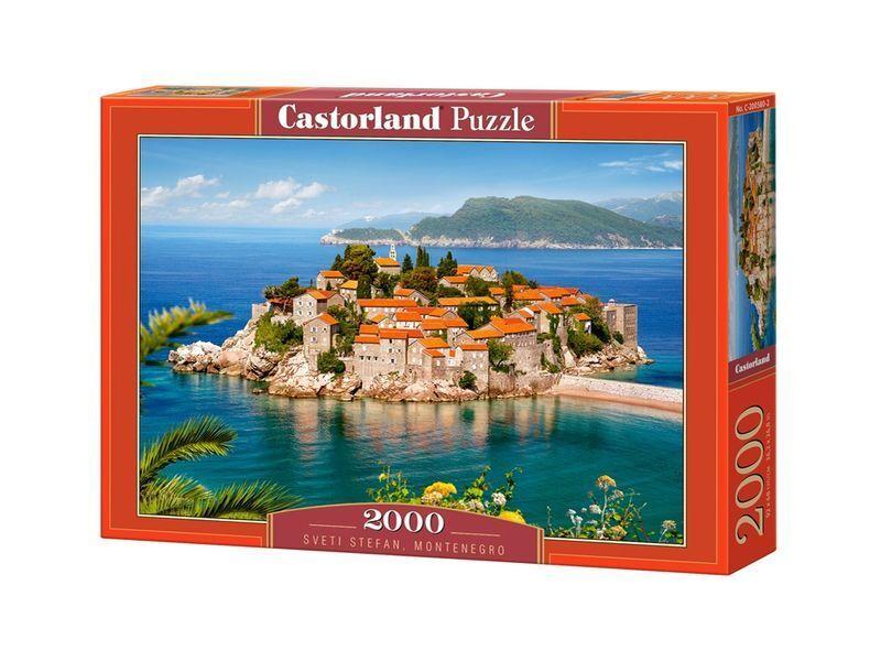 Castorland Puzzle 2000 Pieces - SVETI STEFAN 92x68cm 36 x27  Sealed box C-200580