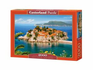 "Castorland Puzzle 2000 Pieces - SVETI STEFAN 92x68cm 36""x27"" Sealed box C-200580"