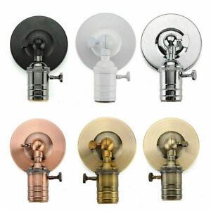 Vintage-Sconce-E27-Industrial-Edison-Wall-Loft-Retro-Lamp-Light-Holder-Switch-UK
