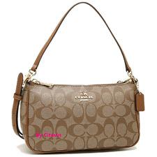 New Coach F58321 Messico Top Handle Pouch Signature Handbag Shoulder Bag Purse