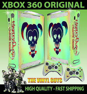 Video Games & Consoles Faceplates, Decals & Stickers Dutiful Xbox 360 Original Harley Quinn Suicide Squad Logo Harleen Skin X 2 Pad Stickers