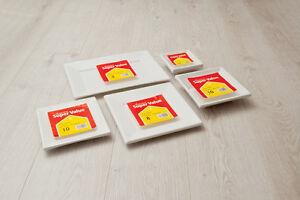 White-Black-Square-Disposable-Plastic-Plates-Bowls-Trays-Party-Event-5-10-20-50