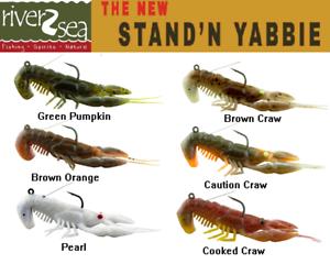 "Select Color 4 Per Pack River2Sea 2019 Stand/'N Yabbie 80 3/"" 1//2oz."
