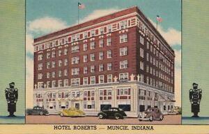 Image Is Loading Postcard Hotel Roberts Muncie In