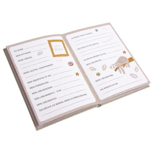 Goldbuch Freundebuch A5 Faultier Happylife Kindergarten Freunde Schule 88 Seiten