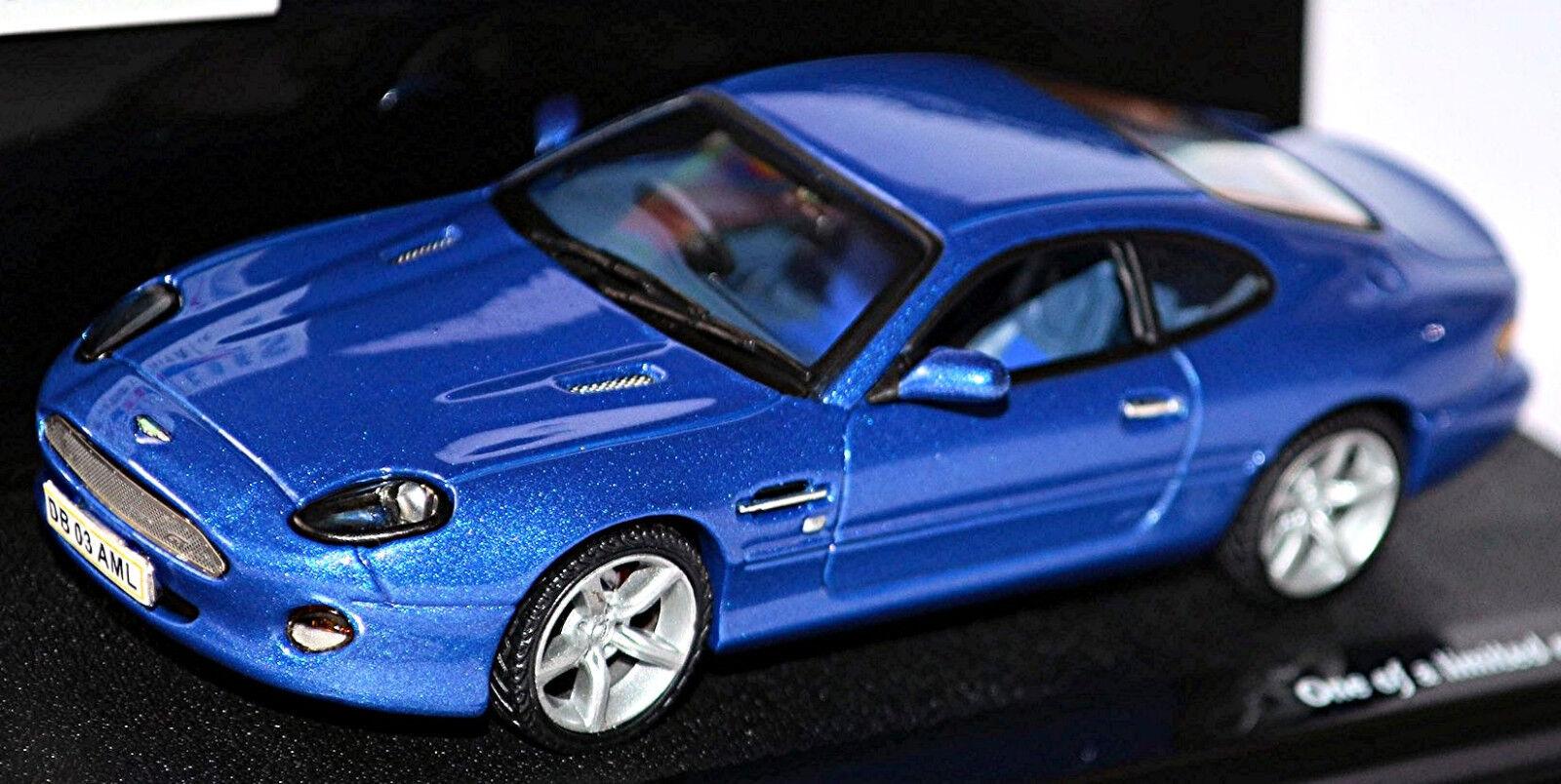 Aston Martin DB7 Gt Coupe 2002-03 greenigo bluee Metallic 1 43 Vitesse