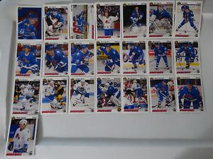 1991-92-Upper-Deck-UD-Quebec-Nordiques-Team-Set-of-22-Hockey-Cards