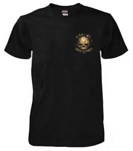 Harley-Davidson-Men-039-s-Extreme-Skull-Short-Sleeve-Crew-T-Shirt-Black-5L33-HF4U