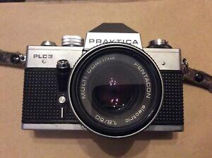 Vintage-Praktica-PLC-3-35mm-camera-with-1-8-50-lens