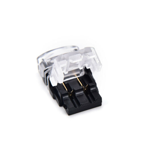2 pin led strip to wire connector 8mm//10mm tape light connector conductor ✓@^PTW