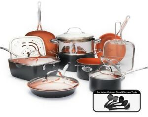 Gotham Steel Complete Kitchen Nonstick 20 Piece Copper Cookware Set - Reg $199!