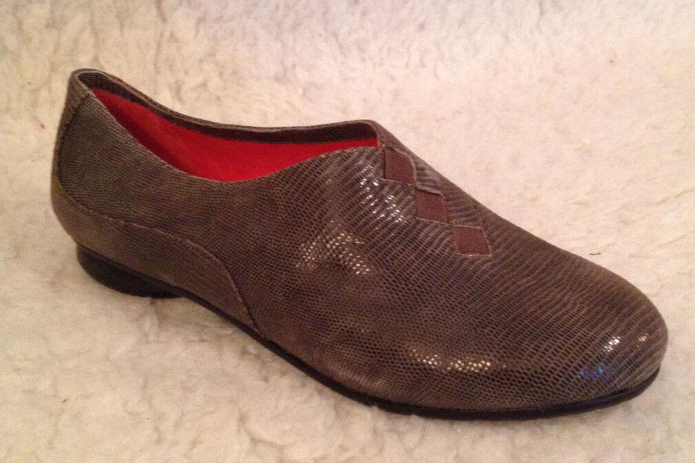 Nuevo En Caja    225 M Maccari Bryce gris Topo Viper impresión Zapatos Planos De Gamuza Para Mujer 40 9.5 10 M  bienvenido a elegir