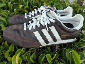 Zapatos De Cuero 2006 Vintage Adidas Dragon Original Marrón ...