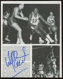 WILLIS REED signed 8x10 book photo (KNICKS - AUTOGRAPH) HOF