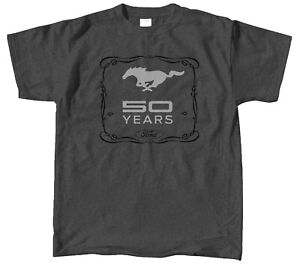 Mustang 50 YEARS Dark Heather Tee - Celebrating Ford Mustang's 50th Anniversary!