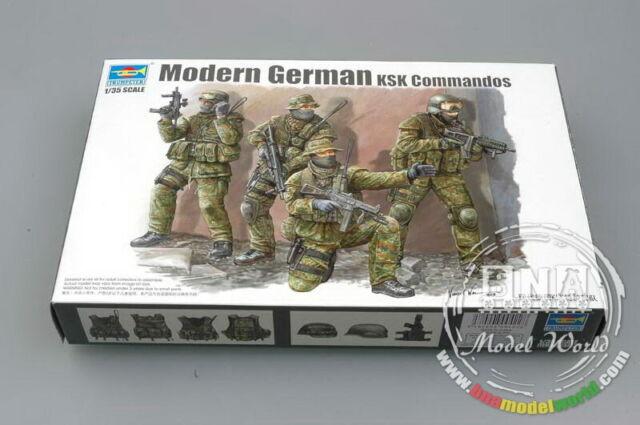 Trumpeter Models 1/35 Modern German KSK Commandos (4 Figures)