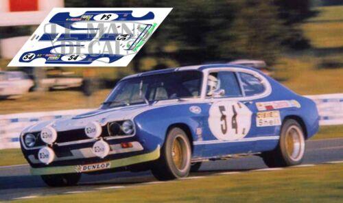 Calcas Ford Capri RS2600 Le Mans 1972  1:32 1:24 1:43 1:18 64 87 slot decals