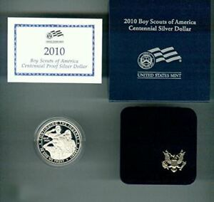 2010-P $1 Boy Scouts or America Centennial Silver Dollar Choice Proof