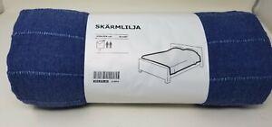 Ikea-skarmlilja-91-034-X-98-034-mirada-Denim-Algodon-Manta-Queen-King