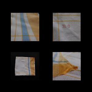 Nappe-de-table-tissu-coton-art-deco-vintage-1940-1960-fait-main