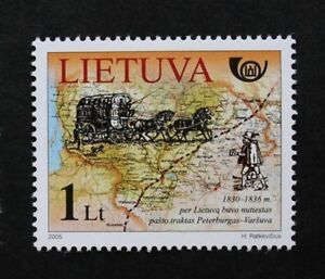 Postal history stamp 2005 mail coach map Lithuania SG ref 869 MNH - <span itemprop=availableAtOrFrom>Romford, Essex, United Kingdom</span> - If for whatever reason you are not 100% happy with your purchase please return it within 30 days for a full refund. Buyer required to pay postage costs unless the item is not as de - Romford, Essex, United Kingdom