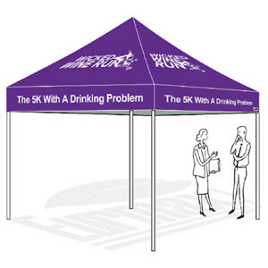 Image is loading Custom-LOGO-Printed-10X10-EZ-Pop-Up-Canopy-  sc 1 st  eBay & Custom LOGO Printed 10X10 EZ Pop Up Canopy Outdoor Instant Patio ...