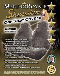 Deluxe-Sheepskin-Lambswool-Merino-Royale-Car-Seat-Covers-30mm-Air-Bag-Safe
