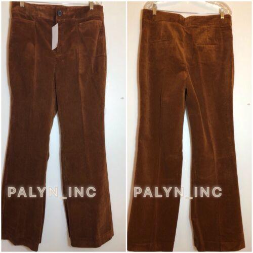 RARE/_NWT ZARA AW18 BRANDY HIGH WAIST FLARED CORDUROY PANTS 8231//618/_XS-XL