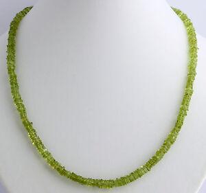 Peridot-kette-edelsteinkette-Olivin-Gruen-Quader-Collier-halskette-925-Silber-Neu