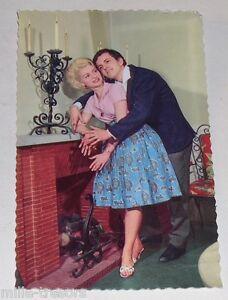 Carte-Postale-PHOTO-publicitaire-CHEMINEES-VOLTEAU-Couple-vintage-60-039-CP-3