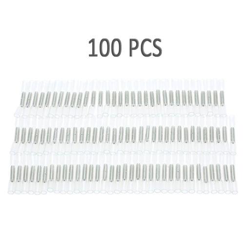 100X Heat Shrink Butt Wire Splice Connectors Crimp Terminals 26-24 AWG DI