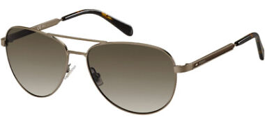 Fossil Matte Brown Aviator Women's with Gradient Lens