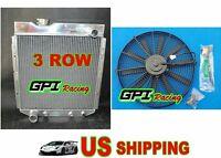 Aluminum Radiator &fan Ford Mustang /falcon/ranchero/mercury Comet/v8 Conversion