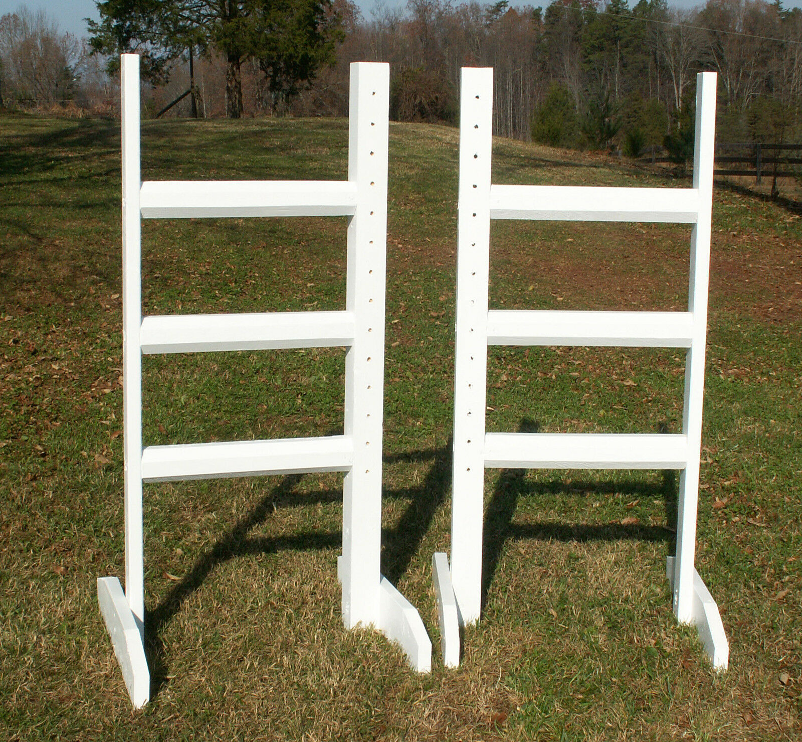 Horse Jumps Horizontal Rail Wing Standards 6ft Pair -  color Choice  clearance up to 70%