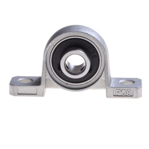 Zinc Alloy Diameter 8mm Bore Ball Bearing Pillow Block Mounted Support JKCA