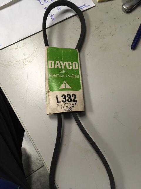 Dayco Industrial Vbelt V-Belt L332 3//8 x 32