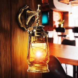 Retro-Antique-Vintage-Rustic-Glass-Wall-Sconce-Light-Lamp-Fixture-Outdoor-E27