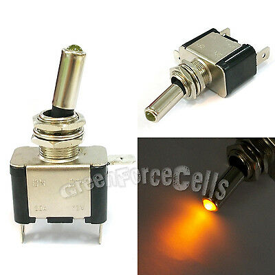 1 pc Car Boat Light LED ON/OFF Toggle Switch DC 12V 20A SPST Control Amber Color