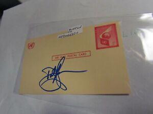 Dustin Hermanson Signed Autographed Postcard