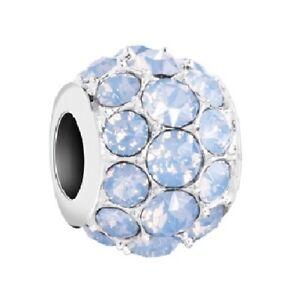 58dea739904bd Details about Chamilia Sterling Charm- Splendor Air Blue Opal Bead