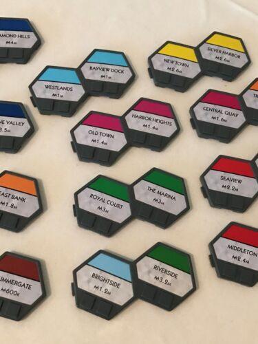 Monopoly U-Build Board Game Replacement Parts Pieces Cards Money Buildings Tiles