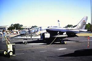 3-713-Dassault-Dornier-Alpha-Jet-Luftwaffe-40-58-Kodachrome-SLIDE