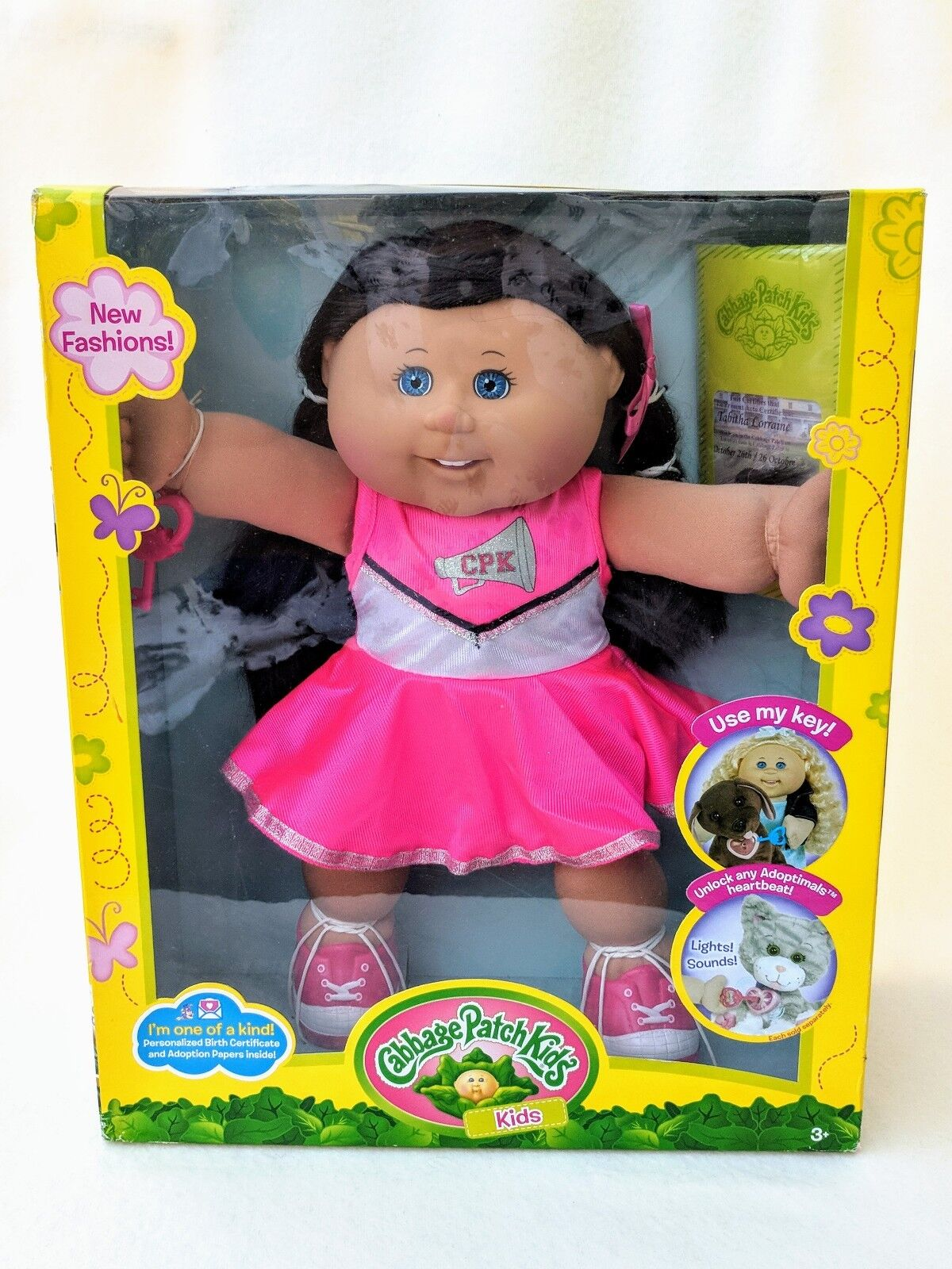 New Cabbage Patch Kid Doll Tabitha Lorraine in in in Rosa Cheerleader Dress braun Hair c50f1b