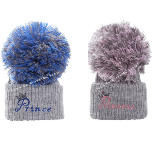 0-3 AND 3-9 MONTHS BOBBLE CAPS BABY BOYS GIRLS KNITTED POMPOM HATS NEWBORN