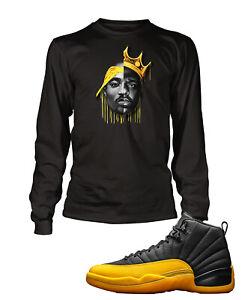 Biggie Pac Tee Shirt To Match Air Jordan 12 University Gold Shoe